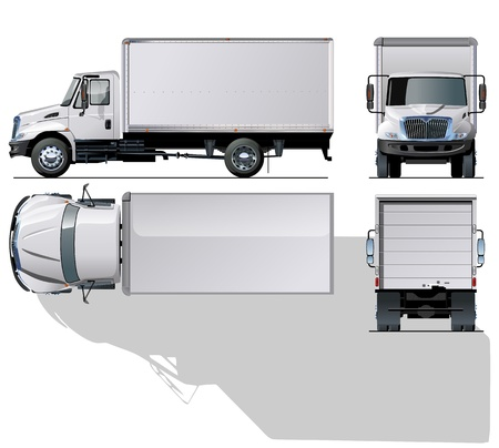 Illustration for hi-detailed delivery   cargo truck - Royalty Free Image