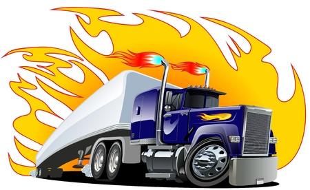 Illustration pour Cartoon Semi Truck. one-click repaint. - image libre de droit