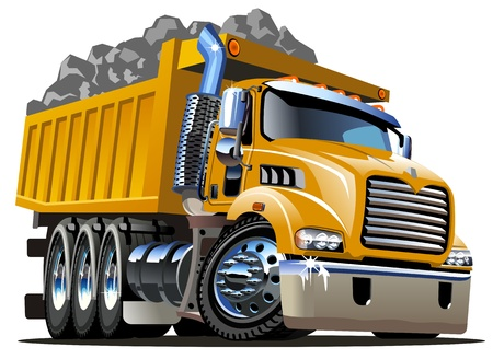 Illustration pour  Cartoon Dump Truck - image libre de droit