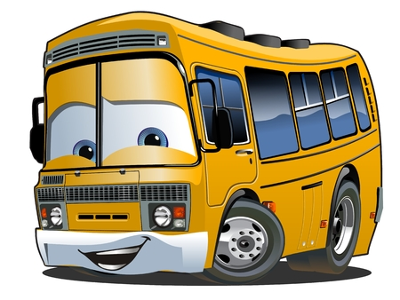 Illustration for Cartoon School Bus - Royalty Free Image