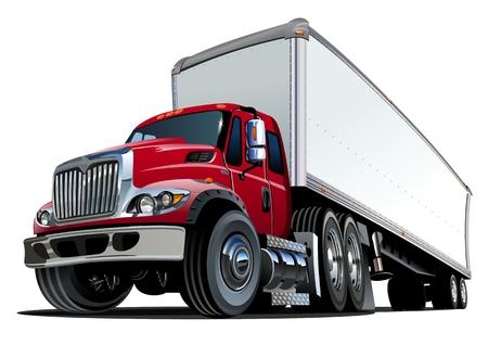 Illustration pour Cartoon semi truck.   - image libre de droit