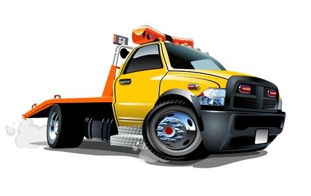 Illustration pour Cartoon tow truck - image libre de droit