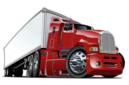 Illustration pour Cartoon semi truck - image libre de droit