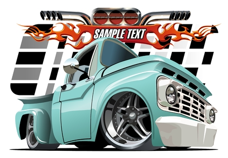 Vector cartoon Lowrider. Available EPS-10 separated by groups and layers with transparency effects for one-click repaint
