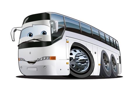 Illustration pour Cartoon Tourist Bus. - image libre de droit