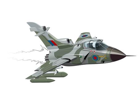 Ilustración de Cartoon Fighter Plane. - Imagen libre de derechos