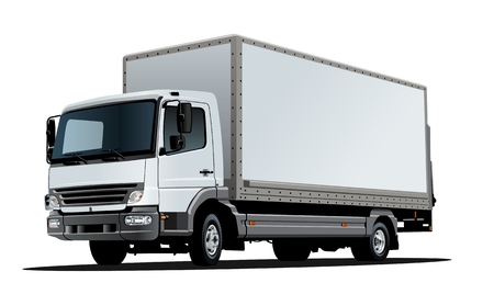Illustration for Artistic Vector truck template isolated on white. Available EPS-10 separated by groups and layers with transparency effects for one-click repaint - Royalty Free Image