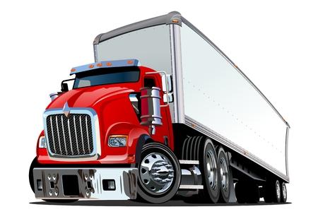 Ilustración de Cartoon semi truck isolated on white background. - Imagen libre de derechos