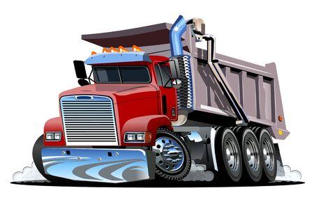 Illustration pour Vector Cartoon Dump Truck. - image libre de droit