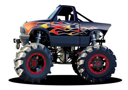Illustration pour Vector Cartoon Monster Truck - image libre de droit