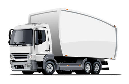Illustration pour Cartoon delivery or cargo truck - image libre de droit
