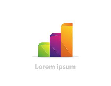 Illustration pour Vector growing success business company logo on white - image libre de droit