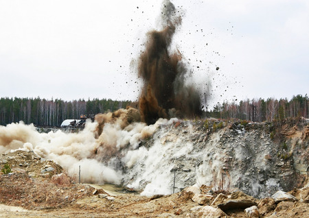 Photo for Big quarry blasting - Royalty Free Image