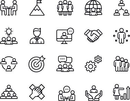 Illustration pour Startup project and development elements - image libre de droit