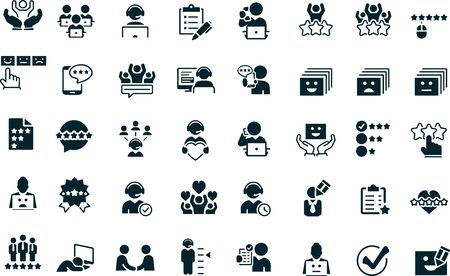 Illustration pour Customer Experience icon set - image libre de droit