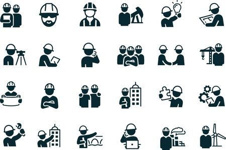 Illustration for Engineers Icons vector design - Royalty Free Image