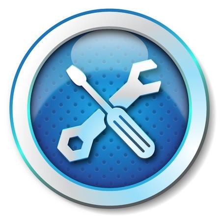 Photo pour Tool repair web icon  - image libre de droit