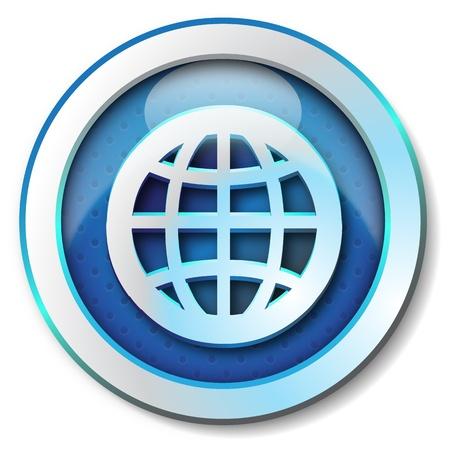 Photo pour World web icon  - image libre de droit