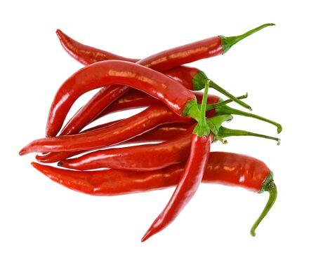 Foto für Red chili peppers isolated on white background - Lizenzfreies Bild
