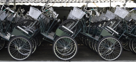 Tricycle parking in the Factory