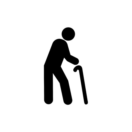 Illustration pour old man icon  - image libre de droit