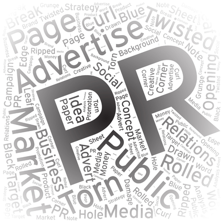 PR ,Word cloud art background