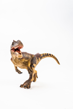 Photo pour Allosaurus ,dinosaur on white background . - image libre de droit