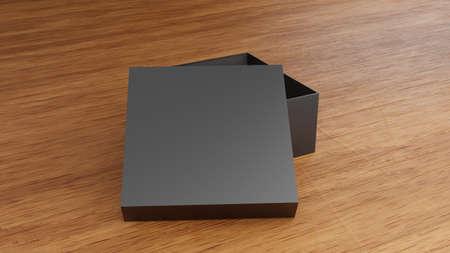 Photo pour Box Mockups blank packaging boxe 3d rendering - image libre de droit
