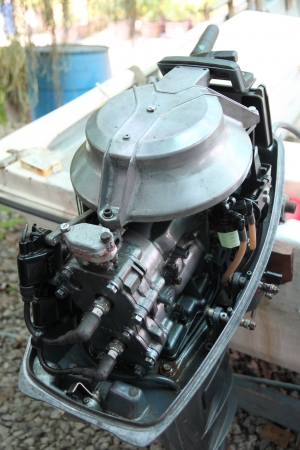 closeup Outboard engines