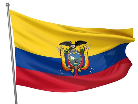Ecuador National Flag    All Countries Collection - Isolated Image