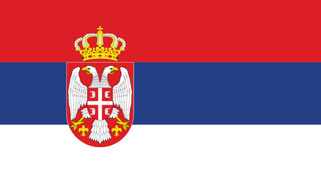 Ilustración de Serbia Flag - Imagen libre de derechos