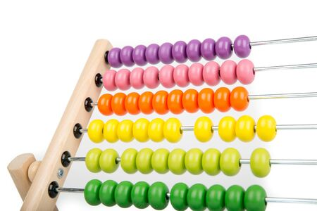 Photo pour Abacus counting frame isolated on white - image libre de droit