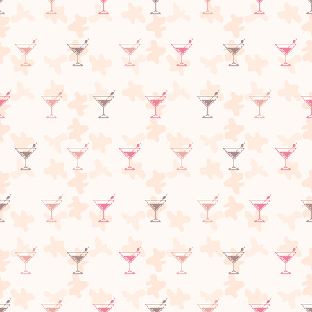 Seamless Pattern Background Alcoholic Beverages Alcohol