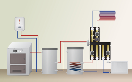 Solid fuel and electric boiler