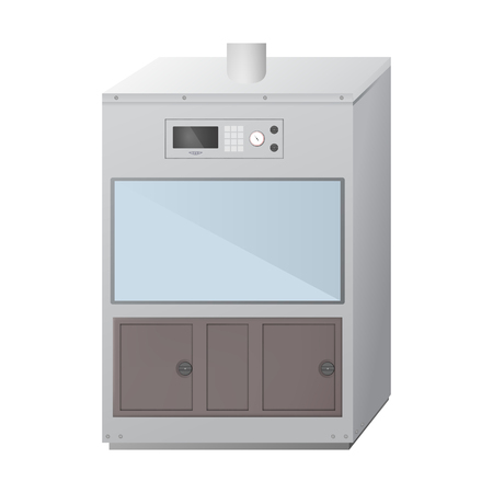 Fume hood. Chemical and biological laboratory. Ventilation equipment for experiments. Vector illustration.