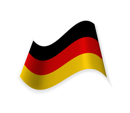 Flag Of Germany. Country in Western Europe. Vector illustration. National symbol.