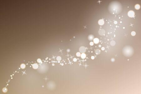 Illustration pour Flow glowing sparks in beige background. Particles with glow effect. Vector illustration. - image libre de droit