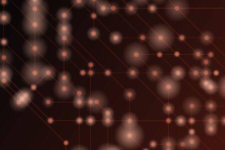 Illustration pour High tech vector illustration. Red background and light. - image libre de droit