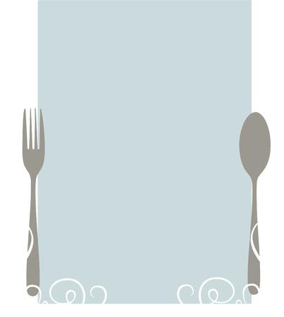 Elegant blank menu template