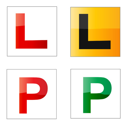 Set of learner and provisional driver plates