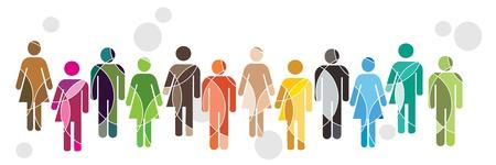 Ilustración de Human Diversity - Imagen libre de derechos