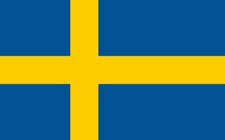 Illustration pour Flag design. Swedish flag on the white background, isolated flat layout for your designs. Vector illustration. - image libre de droit