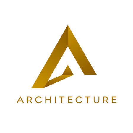 Illustration pour Design of architecture logo on white background. Isolated vector illustration. - image libre de droit