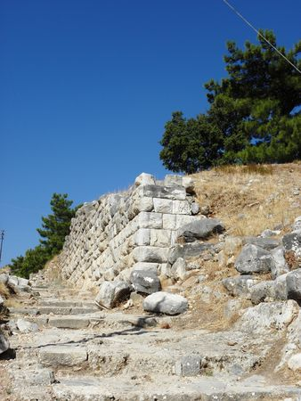 Ancient road leading to the center of  Priene.