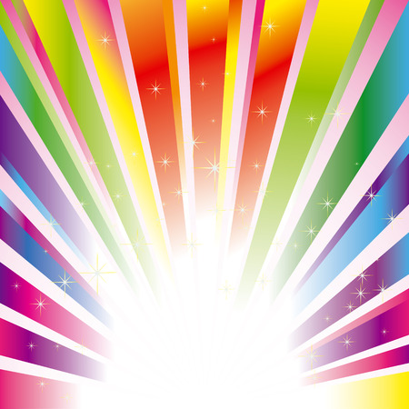 Illustration for Colorful sparkling burst background with stars - Royalty Free Image