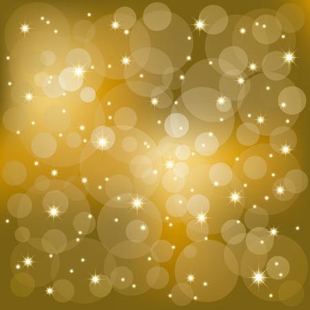Abstract golden sparkling stars light background