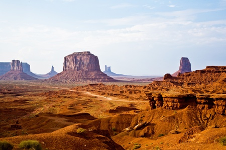 Monument Valley, view from John Fords Point to the beautiful scenery with Merrit Butte and the other sandstone rocks