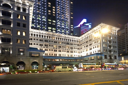 KOWLOON, HONKGONG - JANUARY 9: Hong Kong famous luxury Hotel Peninsula by night on  January 09,2010 Kowloon, Hongkong. Opened 1928 in colonial style.