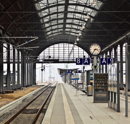 classicistical railway station in Wiesbaden, Germany