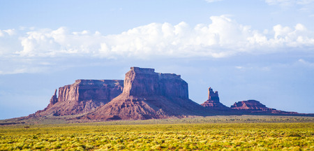 scenic rock formations at monument valley